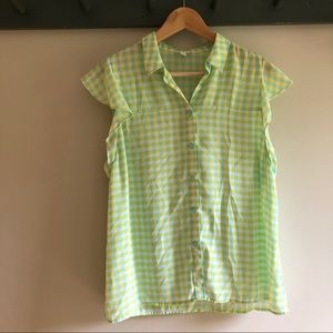 4/$15 Charming Charlie flutter sleeve button down